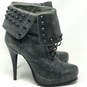 BRONX Studded High Heel Ankle Boots Size 9